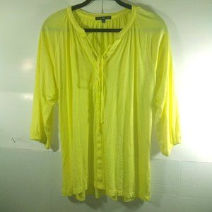 Gap Yellow Blouse Half Sleeve Size LG